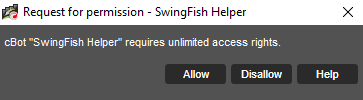 SwingFish Helper access request