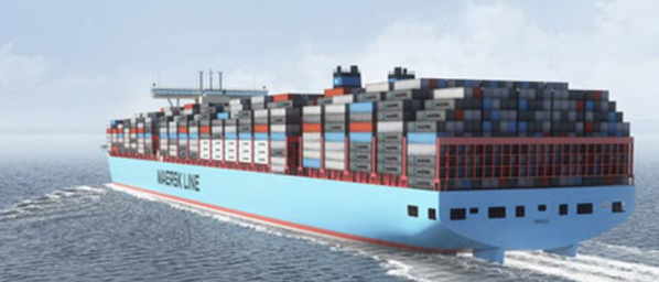 Maersk minting cash, citing: